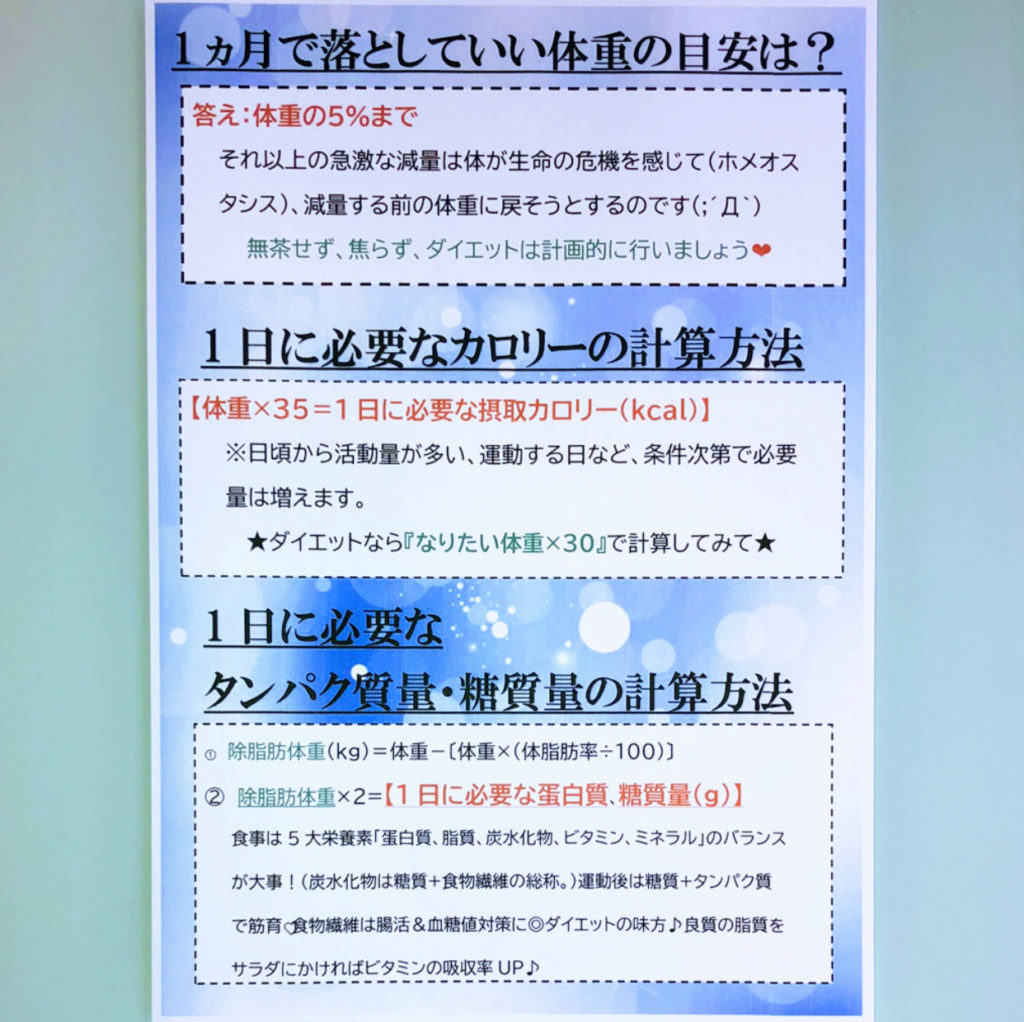 加圧 トレーニング ジム 松山市 女性専用 食事 カロリー 計算